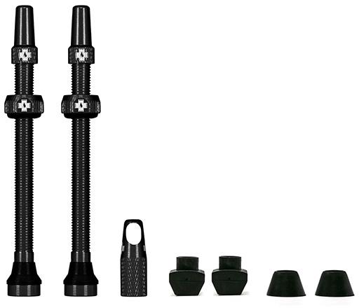 Muc-Off Tubeless Valve / Ventil Kit - 80 mm - Black