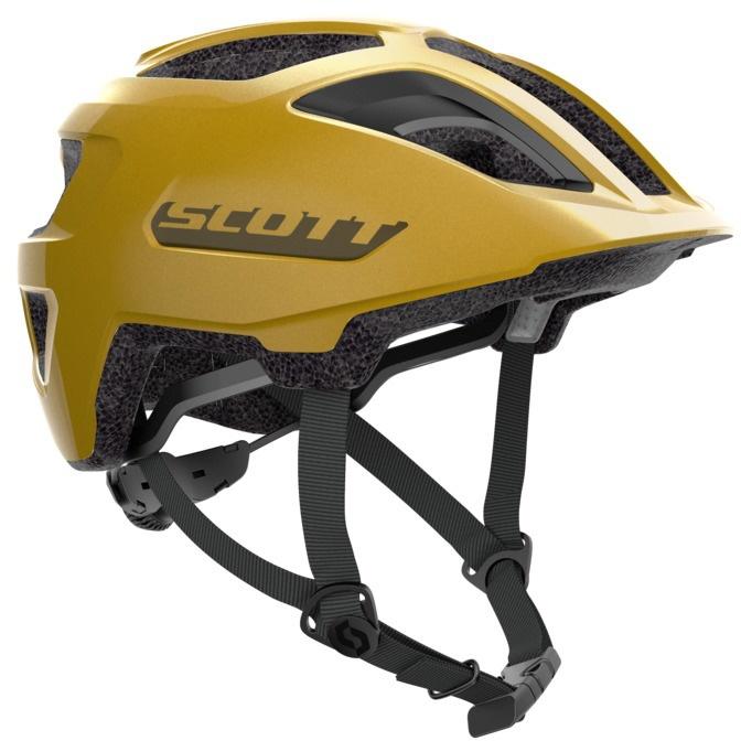 Køb Scott Spunto Junior m. LED lys Hjelm – Gul