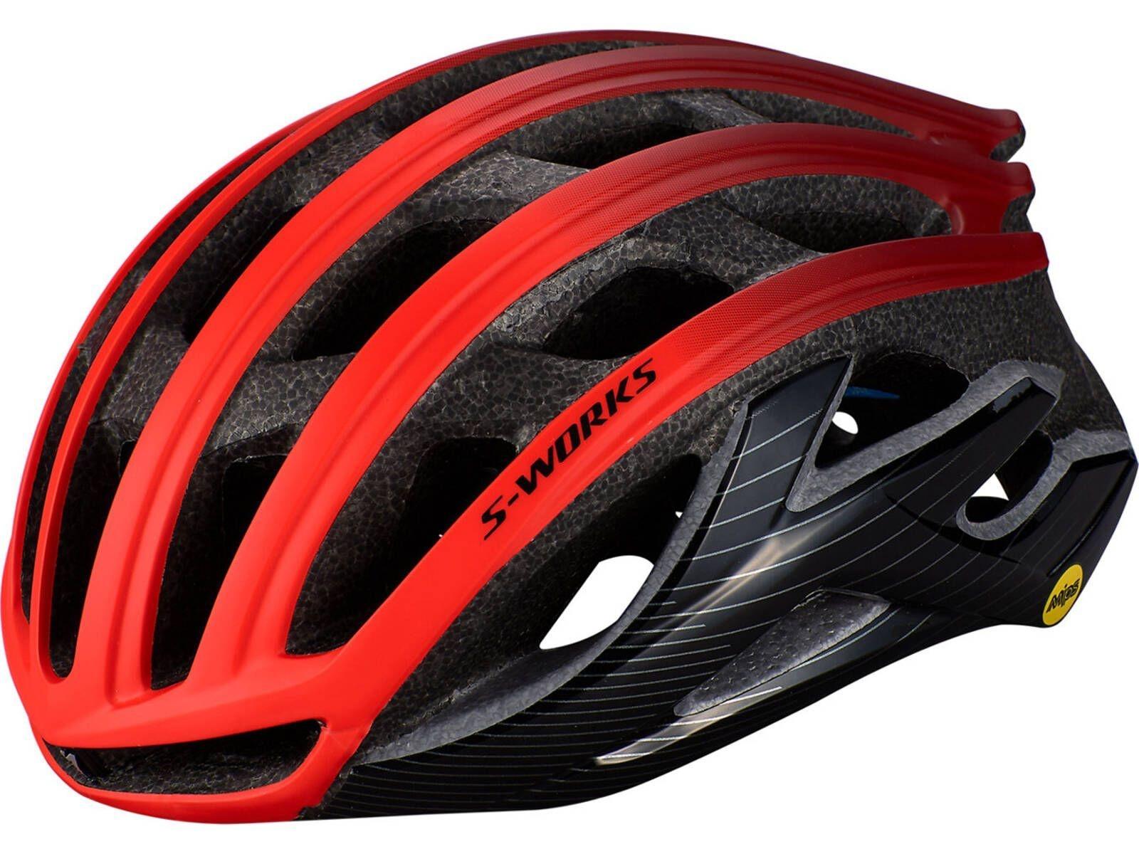 Køb Specialized S-Works Prevail II ANGI READY cykelhjelm – Sort/Rød