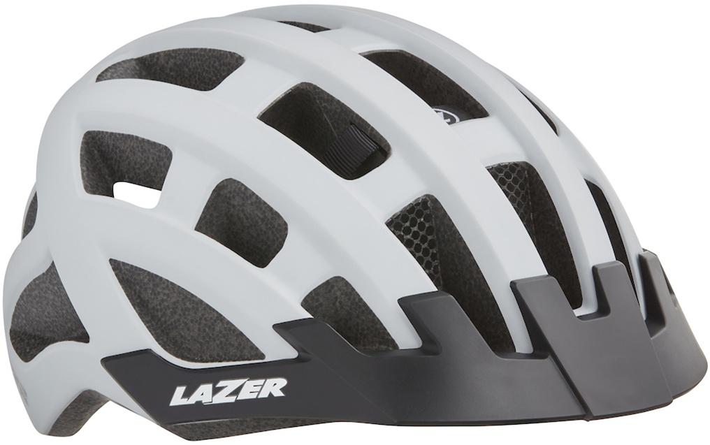 Lazer Petit DLX cykelhjelm m. LED lys - Hvid
