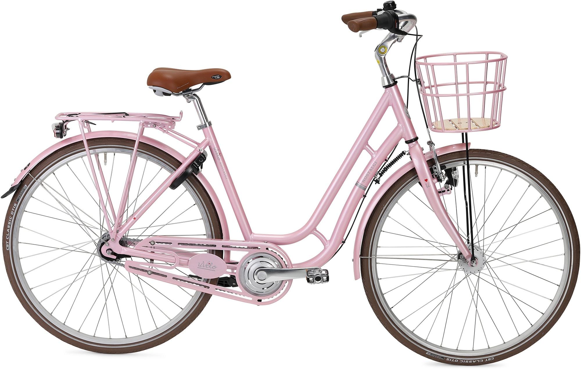 uVélo Nostalgi 7g Dame 2021 - Lyserød  »  Bike Size: 55cm