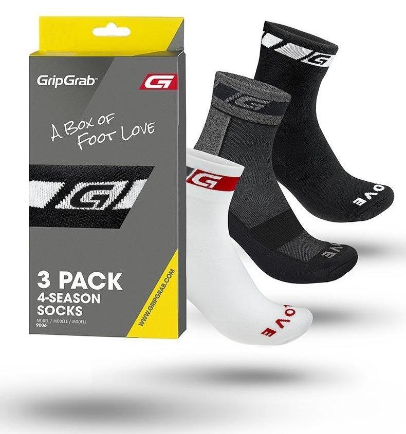 Gripgrab 3-Pack All-Season Socks Bundle