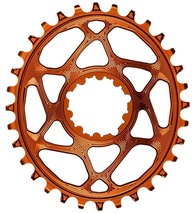 AbsoluteBlack Chainring Direct Mount Singlespeed 34T - Oval - SRAM (Boost) - Orange