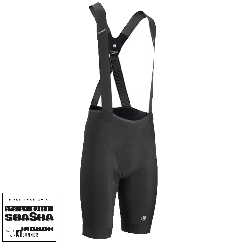 Assos Cykelbukser Equipe RS S9 Bibshorts - Sort  »  Cloth Size: XLG (X-Large)