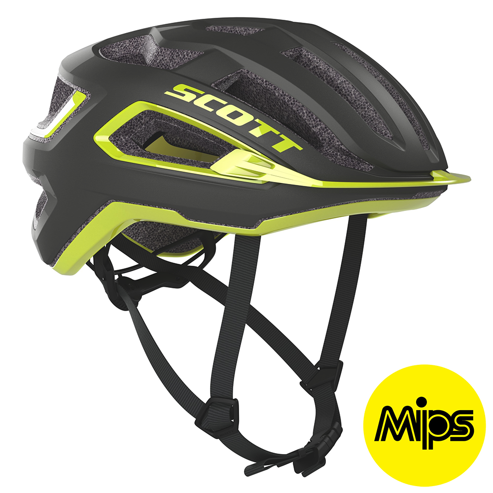 Scott ARX Plus (MIPS) Hjelm '20 - Grå/Gul