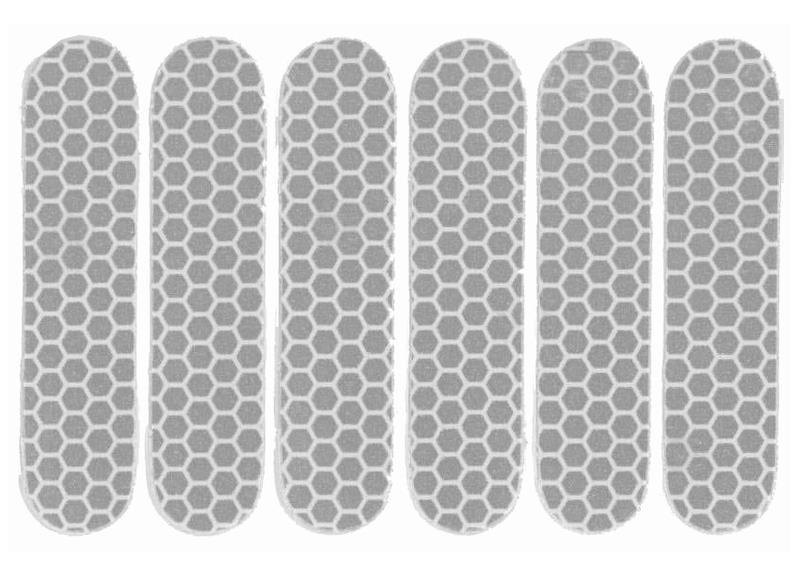 Refleksark Klistermærker - Sølv