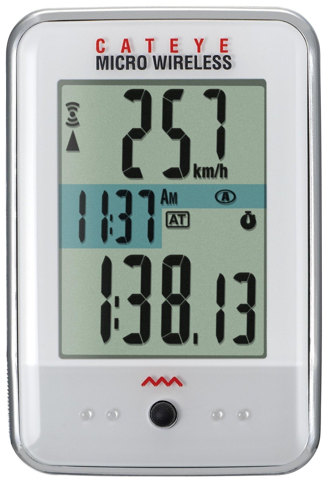 Cateye Micro Trådløs CC-200W Cykelcomputer - Hvid