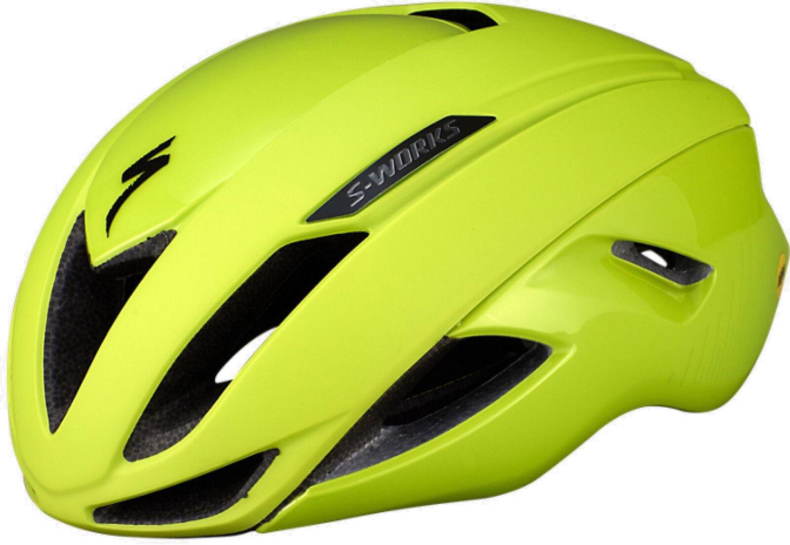 Køb Specialized S-Works Evade II Mips ANGi READY cykelhjelm – Gul