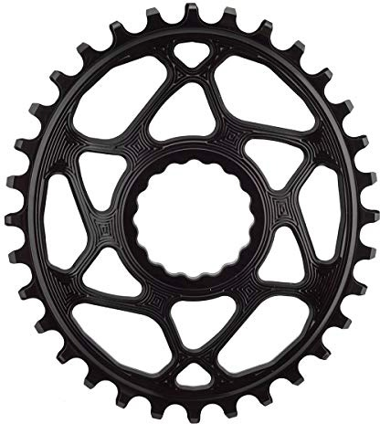 AbsoluteBlack Chainring Direct Mount Singlespeed 34T - Oval - Shimano - Sort