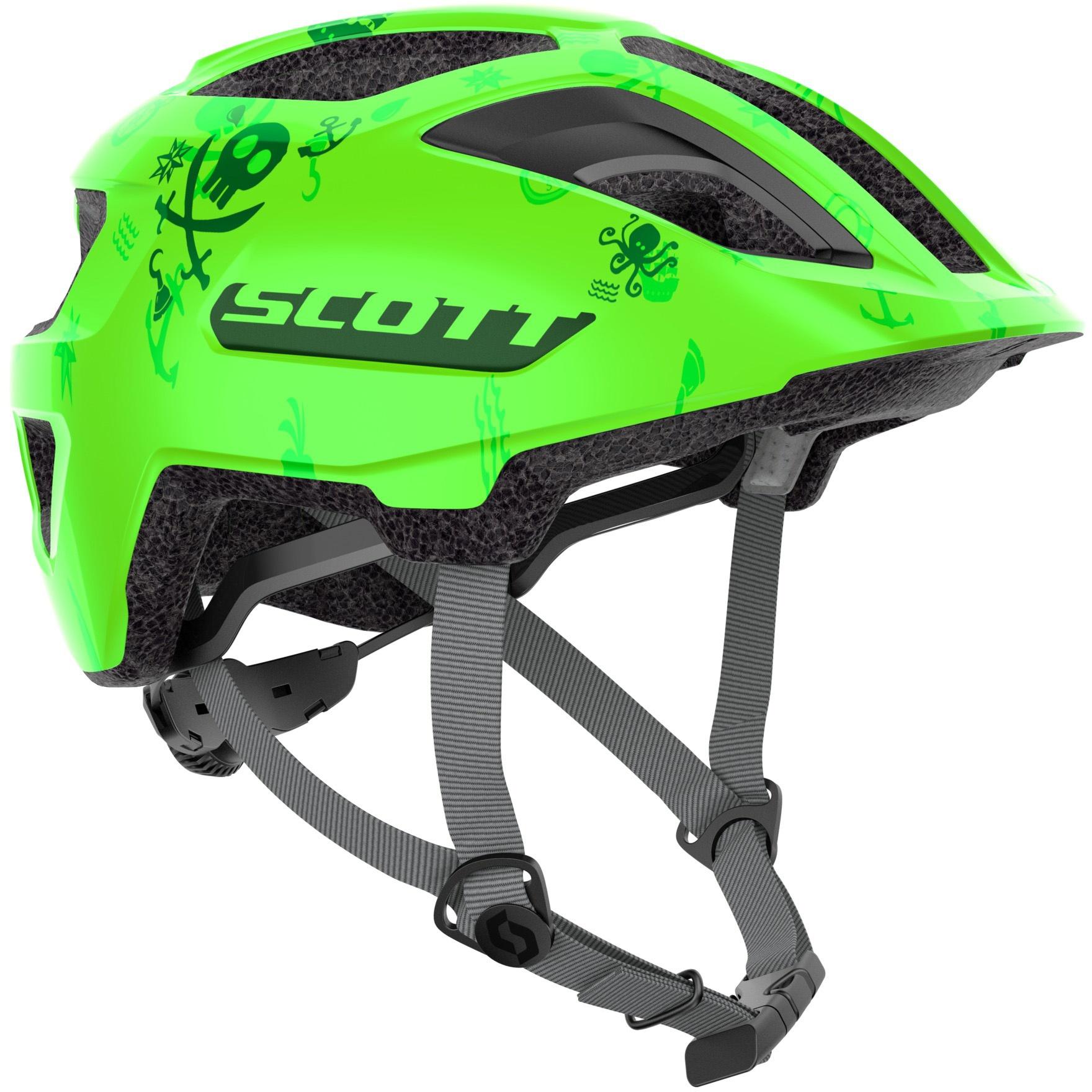 Køb Scott Spunto Junior m. LED lys Hjelm – Grøn