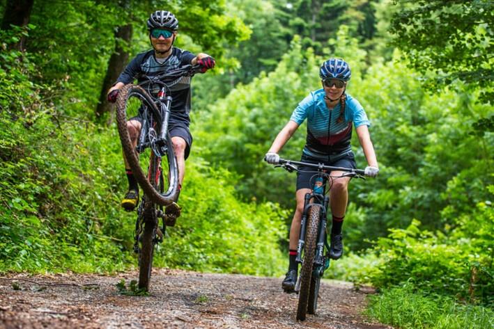 Start på mountainbike