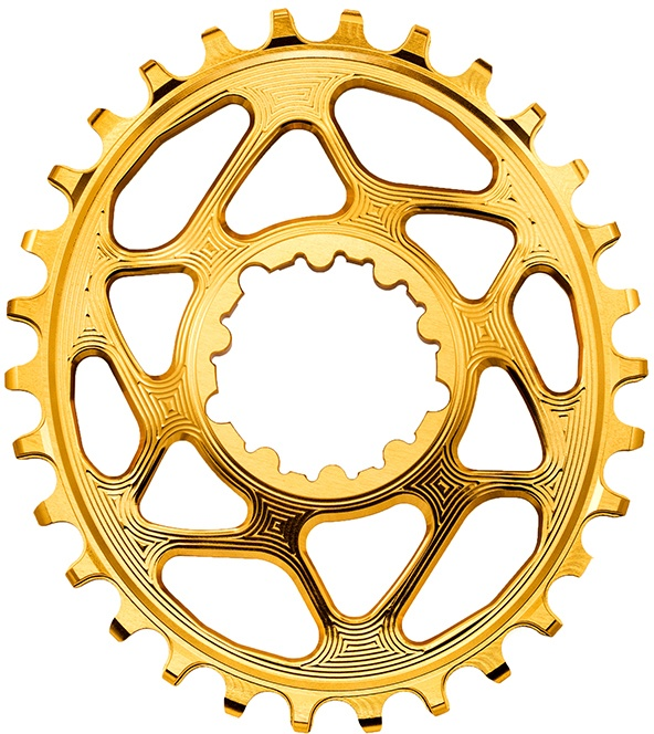AbsoluteBlack Chainring Direct Mount Singlespeed 34T - Oval - SRAM (Boost) - Guld