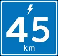 45 kilometer i timen
