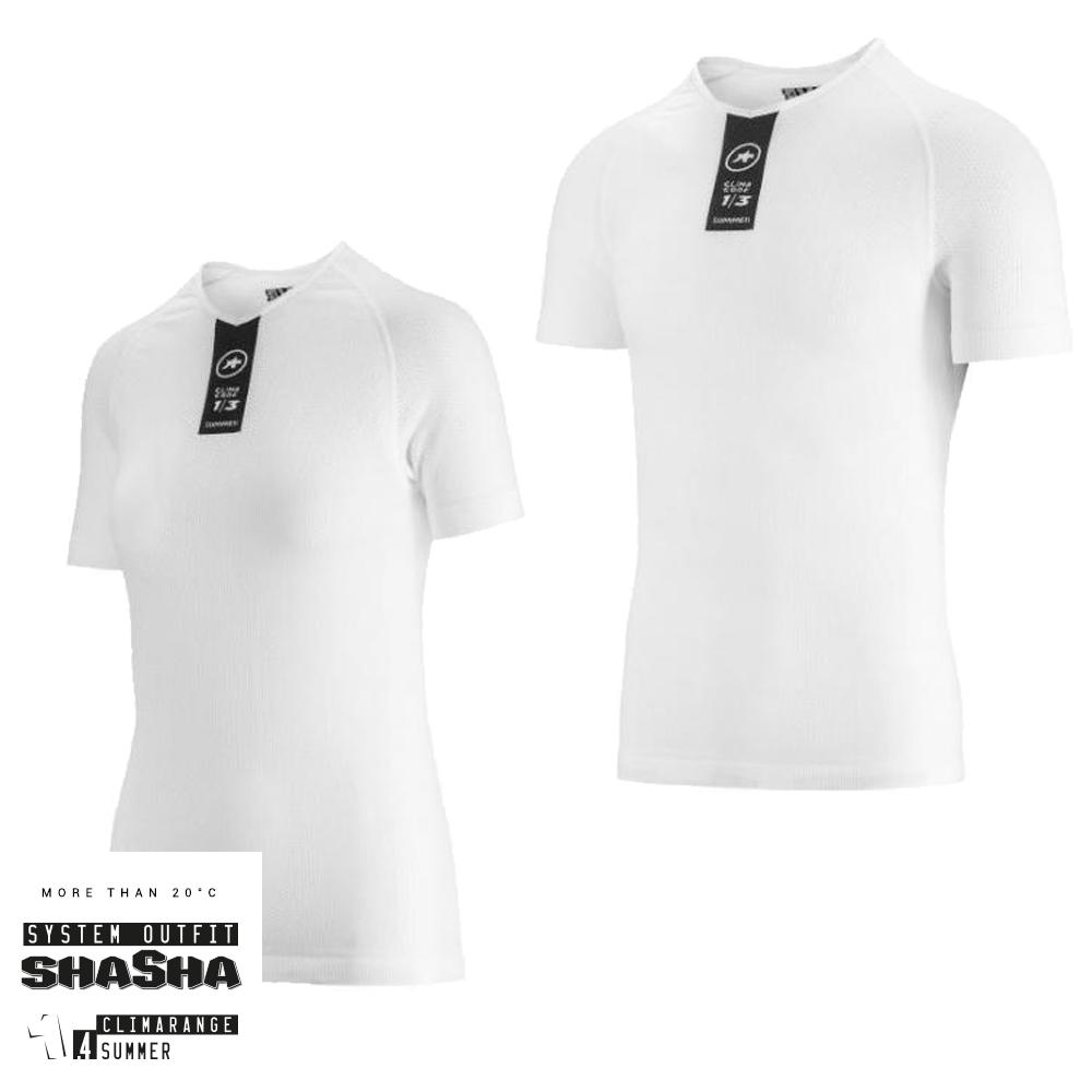 Assos Skinfoil ShortSleeve Summer Base Layer - Hvid