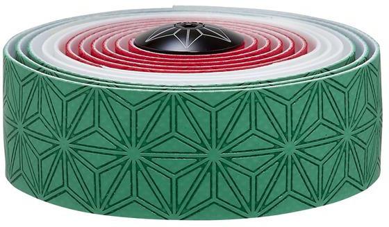 Supacaz Styrbånd Super Sticky KUSH Country - Grøn, Hvid, Rød