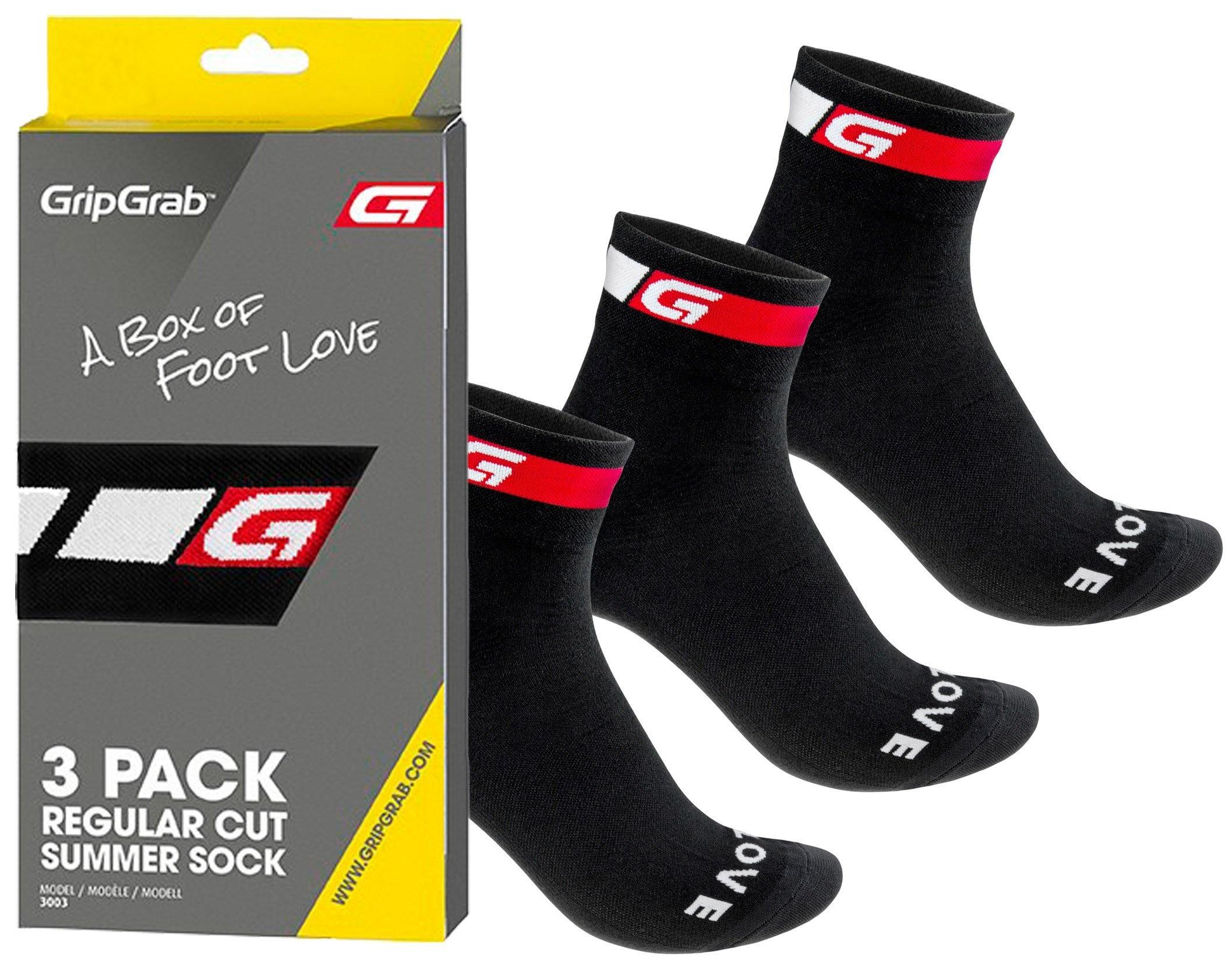 Gripgrab 3-Pack Regular Cut Summer Sock, Sort