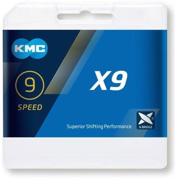 KMC X9 9 speed 114 links Cykelkæde