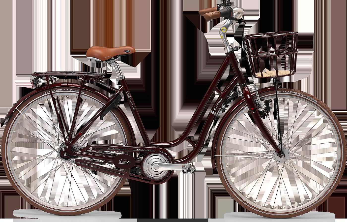 uVélo Nostalgi 7g Dame 2021 - Rød  »  Bike Size: 55cm