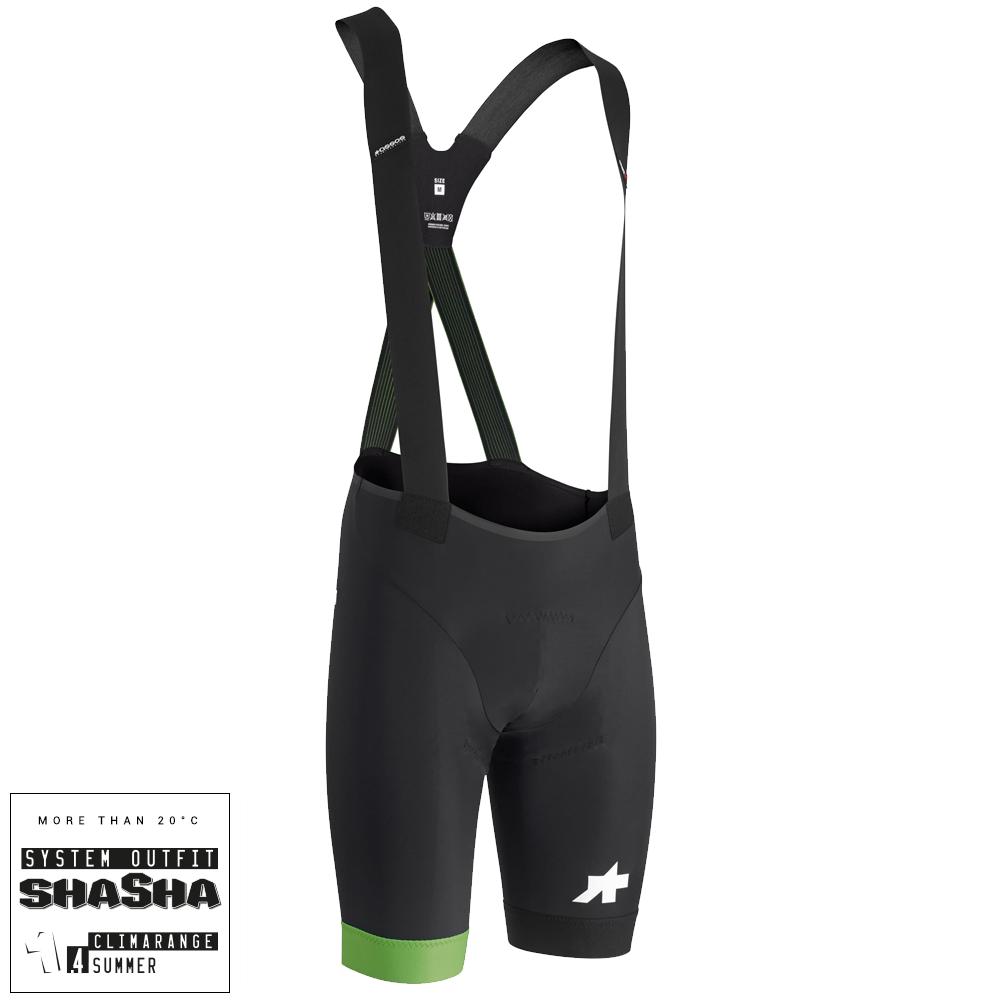 Assos Cykelbukser Equipe RS S9 Bibshorts - Grøn  »  Cloth Size: XS (X-Small)