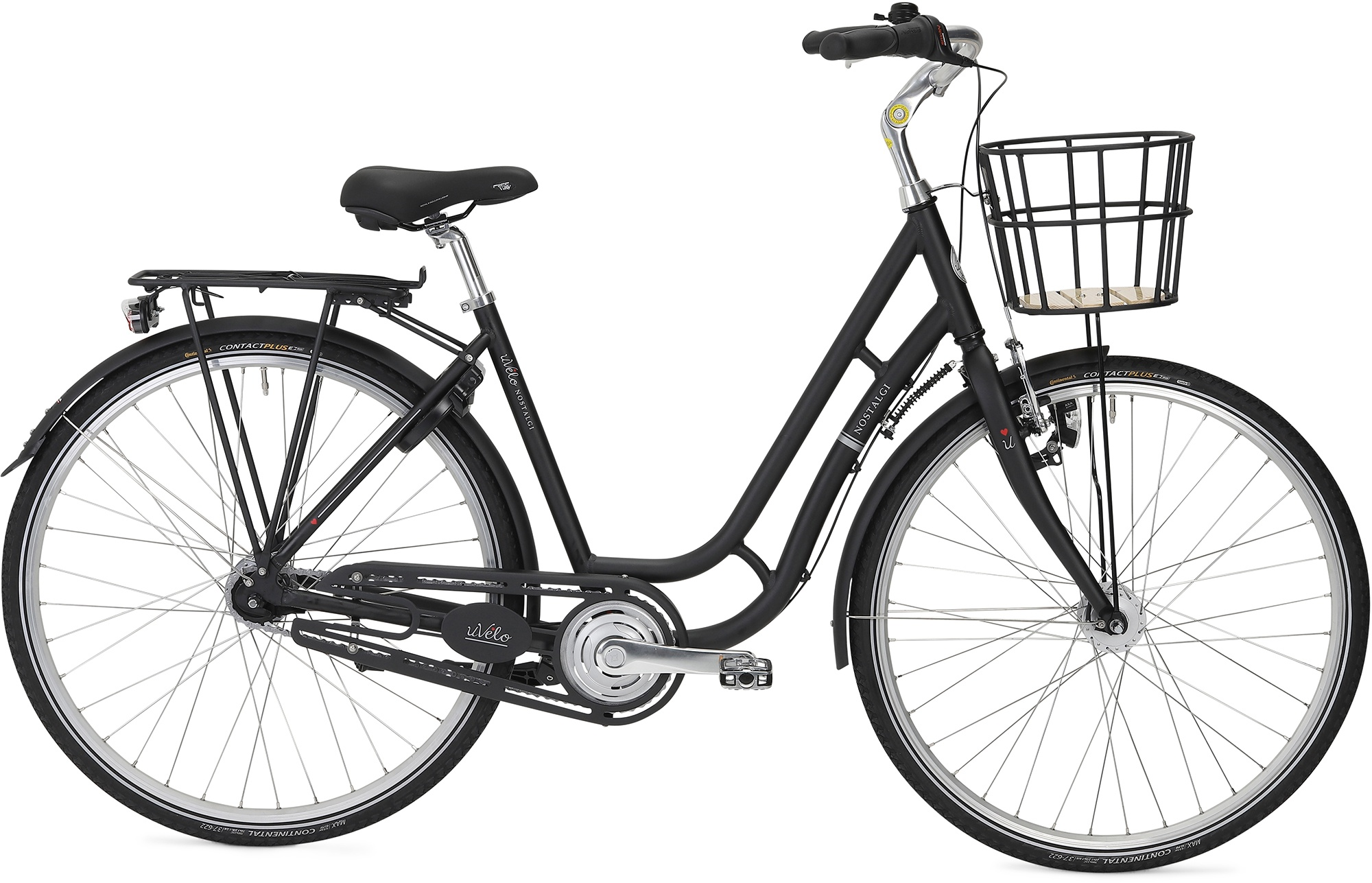 uVélo Nostalgi 7g Dame 2021 - Mat Sort  »  Bike Size: 55cm