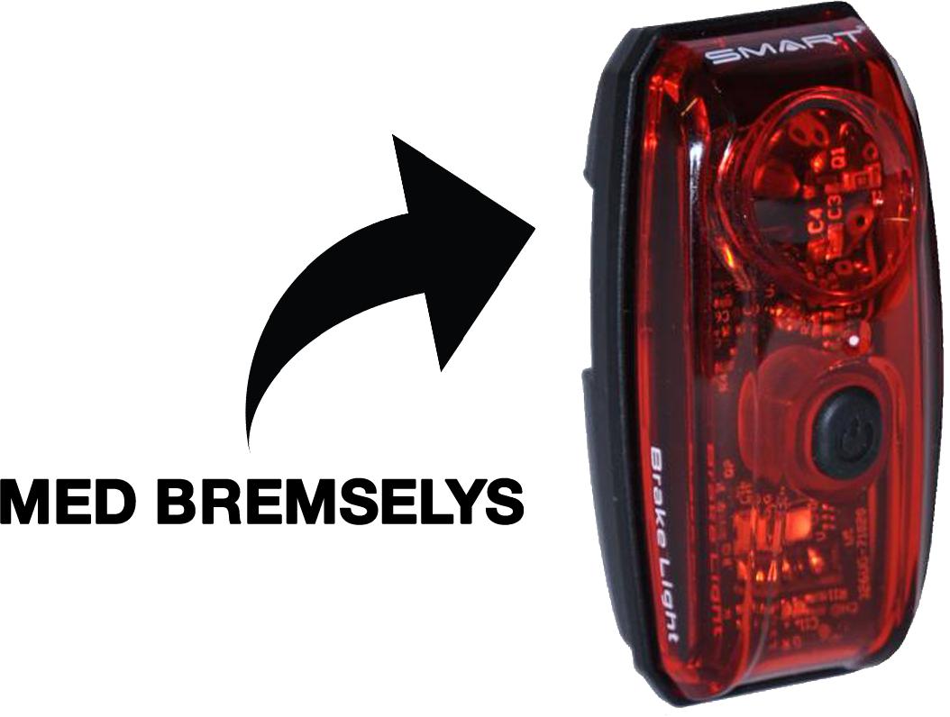 SMART LED Baglygte m. stoplys
